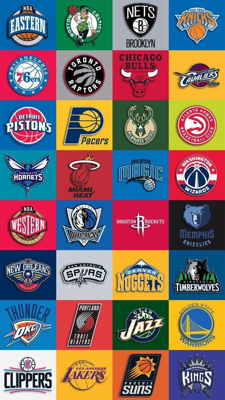 Nba Teams Logo Iphone Wallpaper.