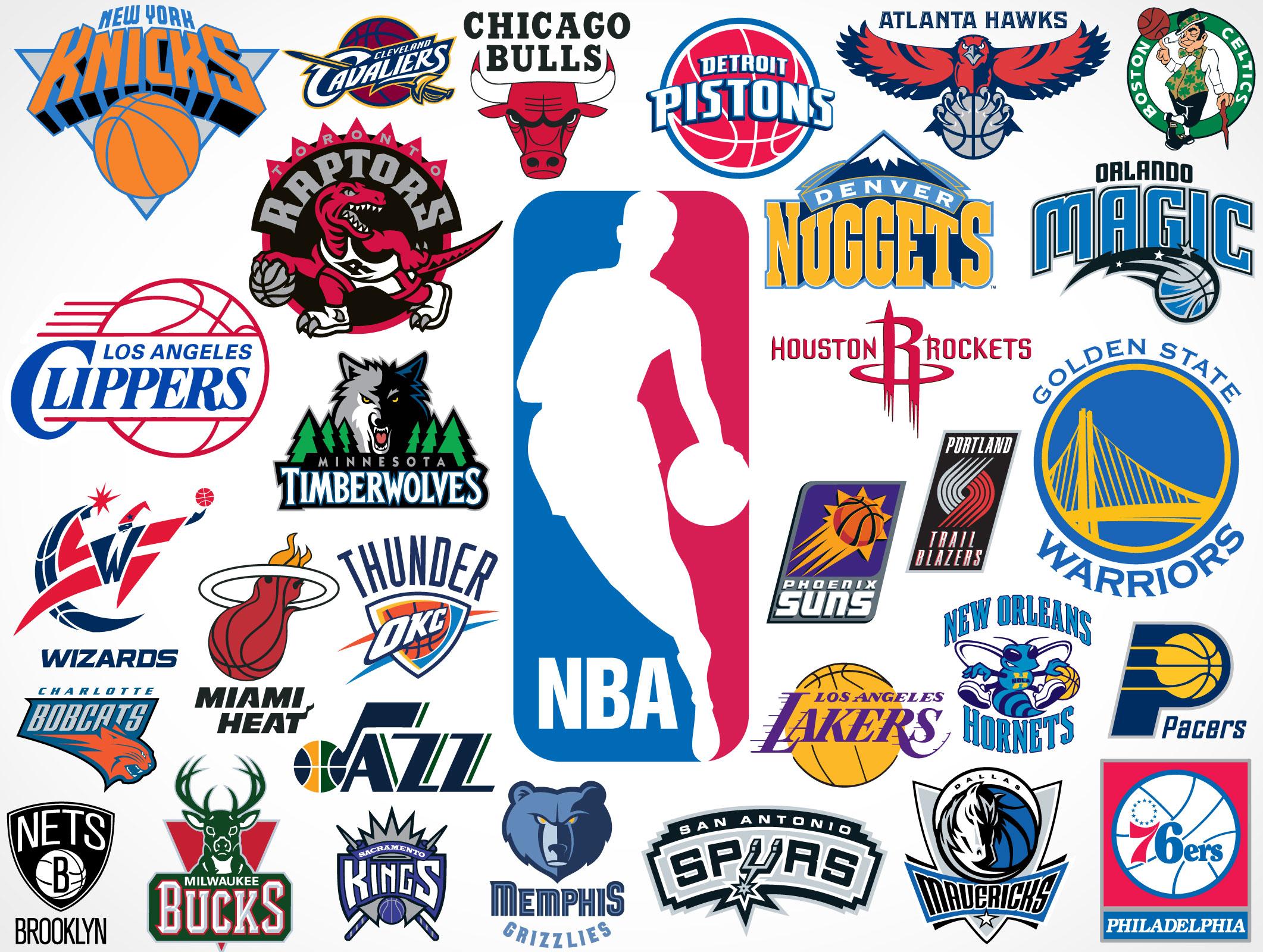 NBA Team Vector Logos • Market Your PSD Mockups for logos.