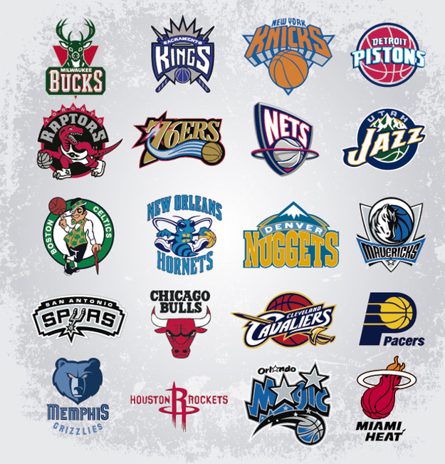 Nba team logos Vector.