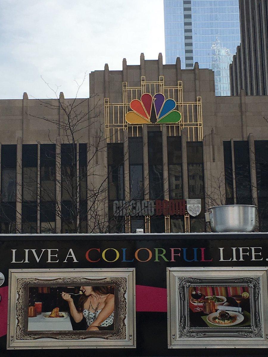 Trucks at NBC Tower (@chiftf_nbctower).