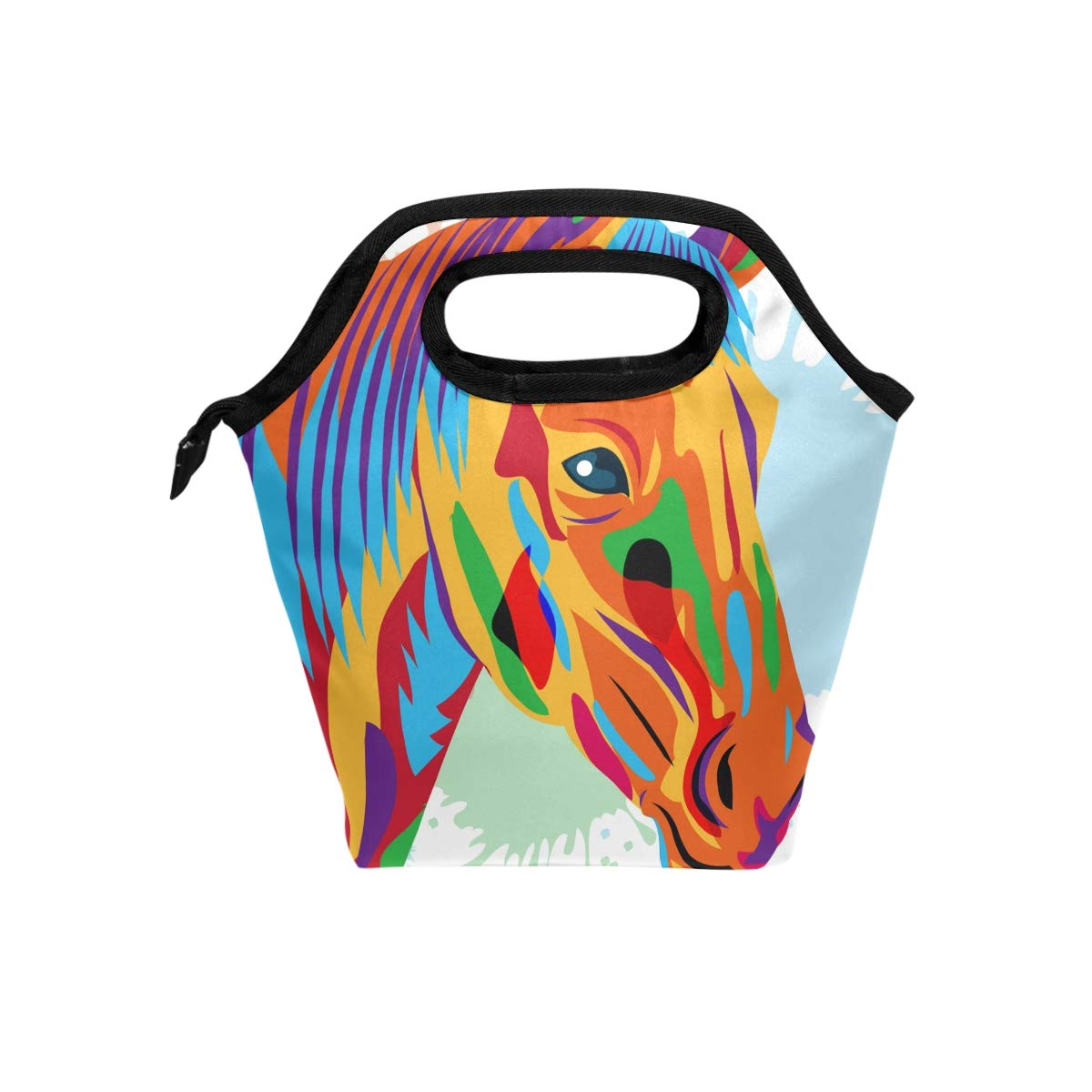 Amazon.com: Painted Horse Lunch Bag Tote Bag Lunch Handbags.