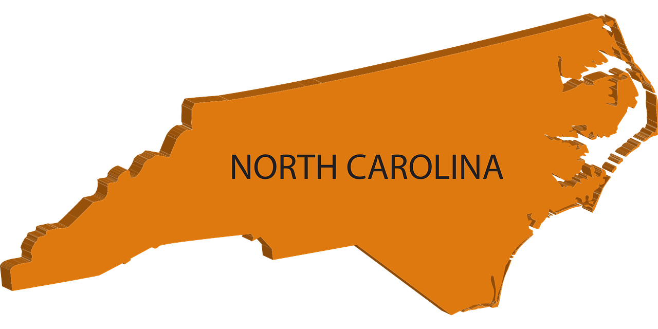 North carolina map clipart cartoon.