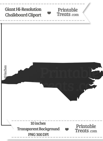 Clean Chalkboard Giant North Carolina State Clipart — Printable.
