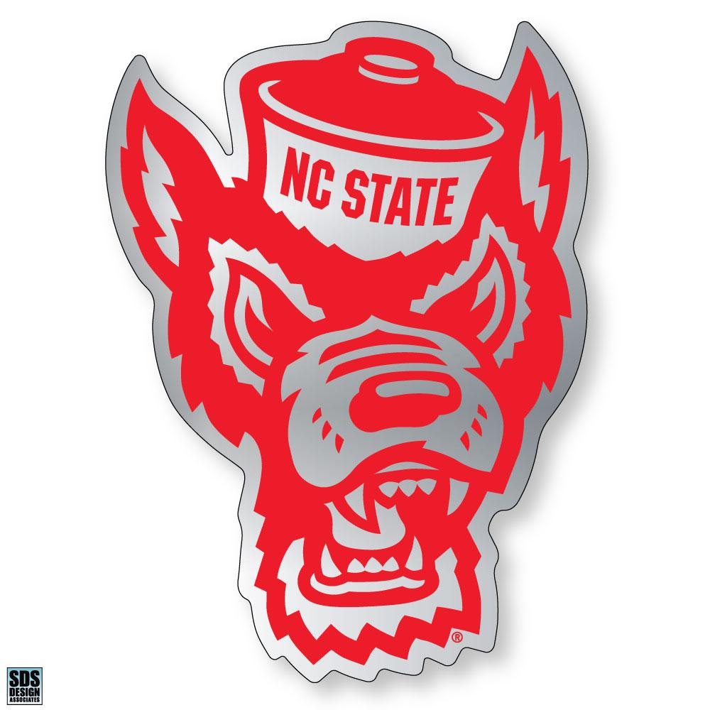 NC State Wolfpack Chrome WolfHead Decal.