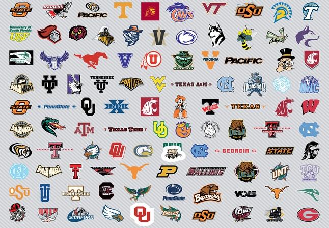 NCAA Men's Basket Logos clip arts, free clipart.