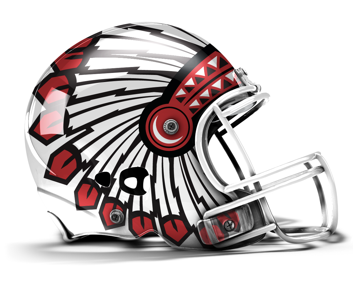 College Football Helmets Clipart.