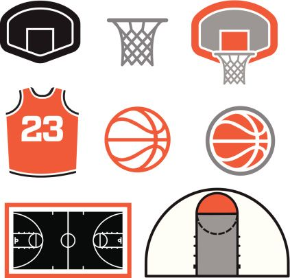 NCAA March Madness Clip Art.