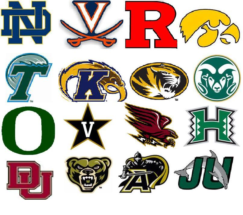 NCAA College Football Team Logo.
