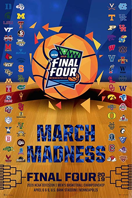 Amazon.com : Pro Graphs 2019 Official NCAA Final Four March.