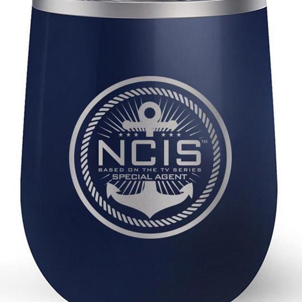 NCIS Logo 12 oz Wine Tumbler.