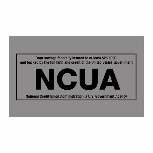 1/3 Size Nameplate Insert with NCUA Logo.