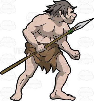 Neanderthal clipart #11