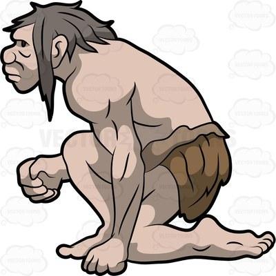 Neanderthal clipart #13
