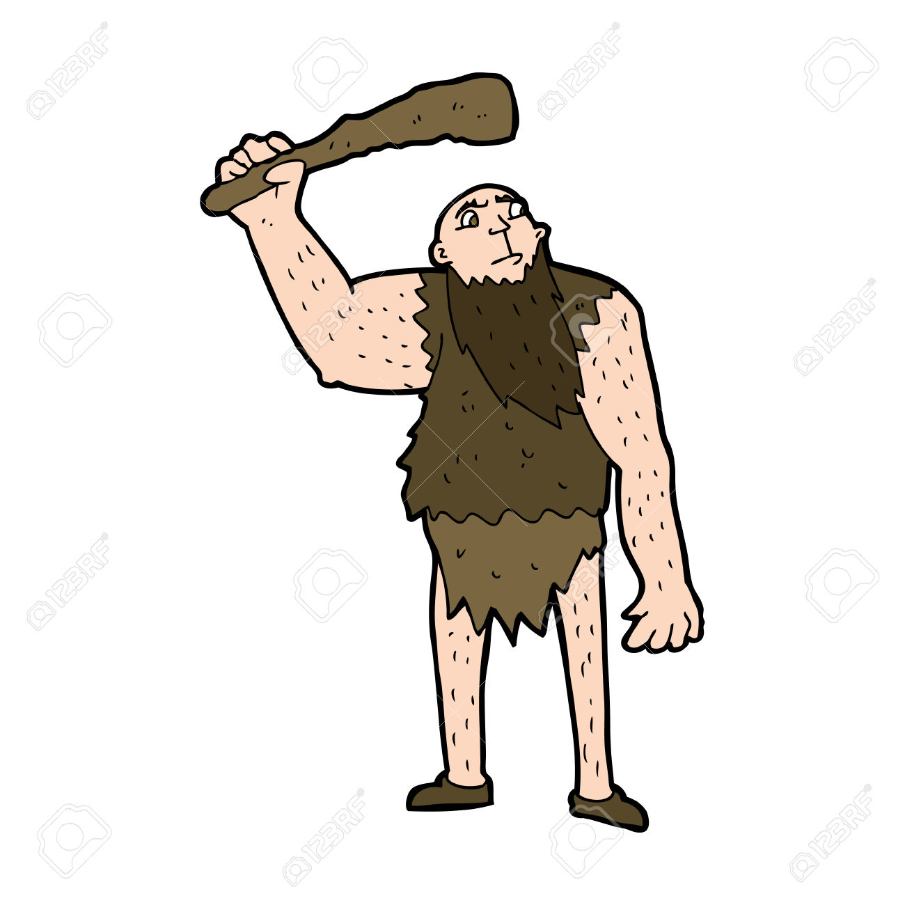 Cartoon Neanderthal Royalty Free Cliparts, Vectors, And Stock.