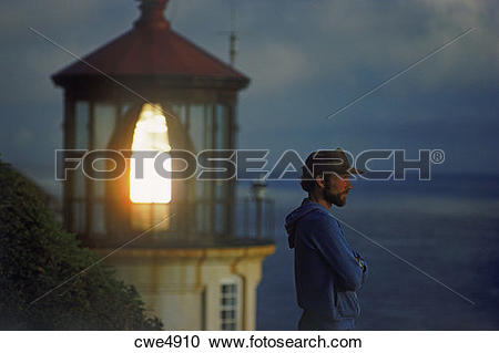 Stock Photography of Heceta Head Lighthouse near Florence, Oregon.