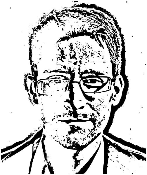 Edward Snowden clipart.