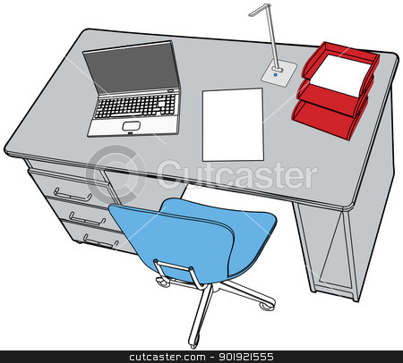 Neat desk clipart.