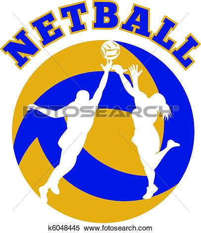 Stock Illustration of netball player shooting ball k6031468.