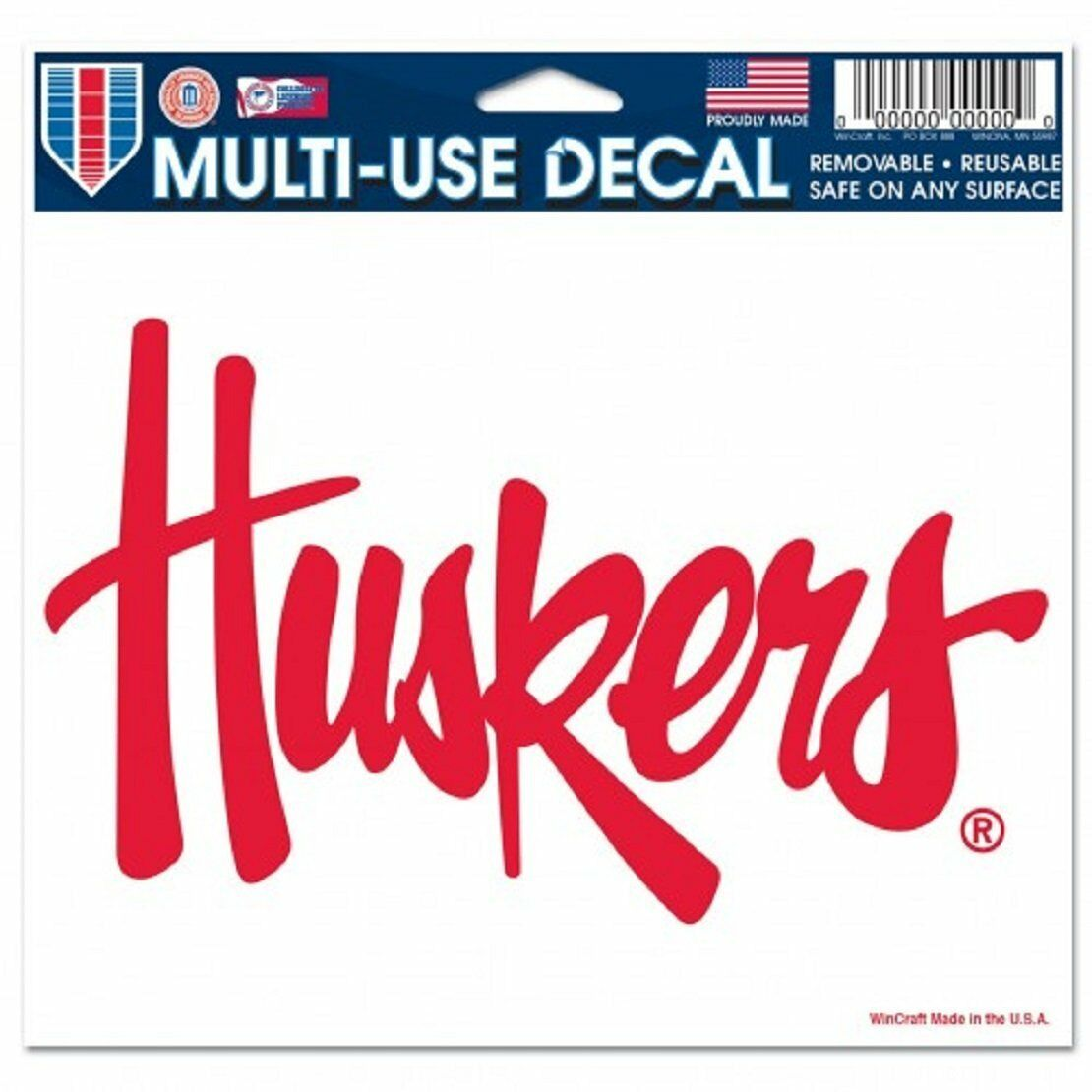 Details about NEBRASKA HUSKERS ULTRA DECAL TEAM LOGO 5\