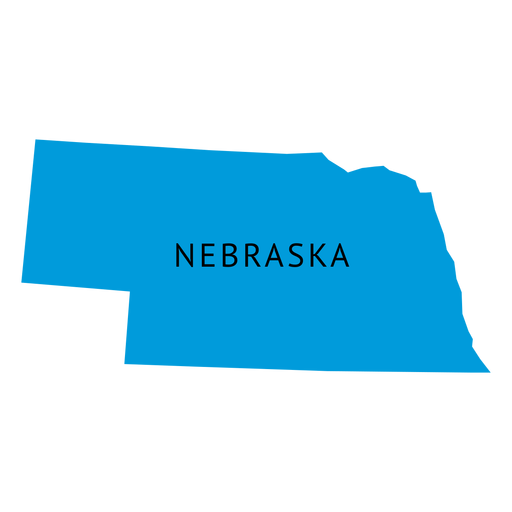 Nebraska state plain map.