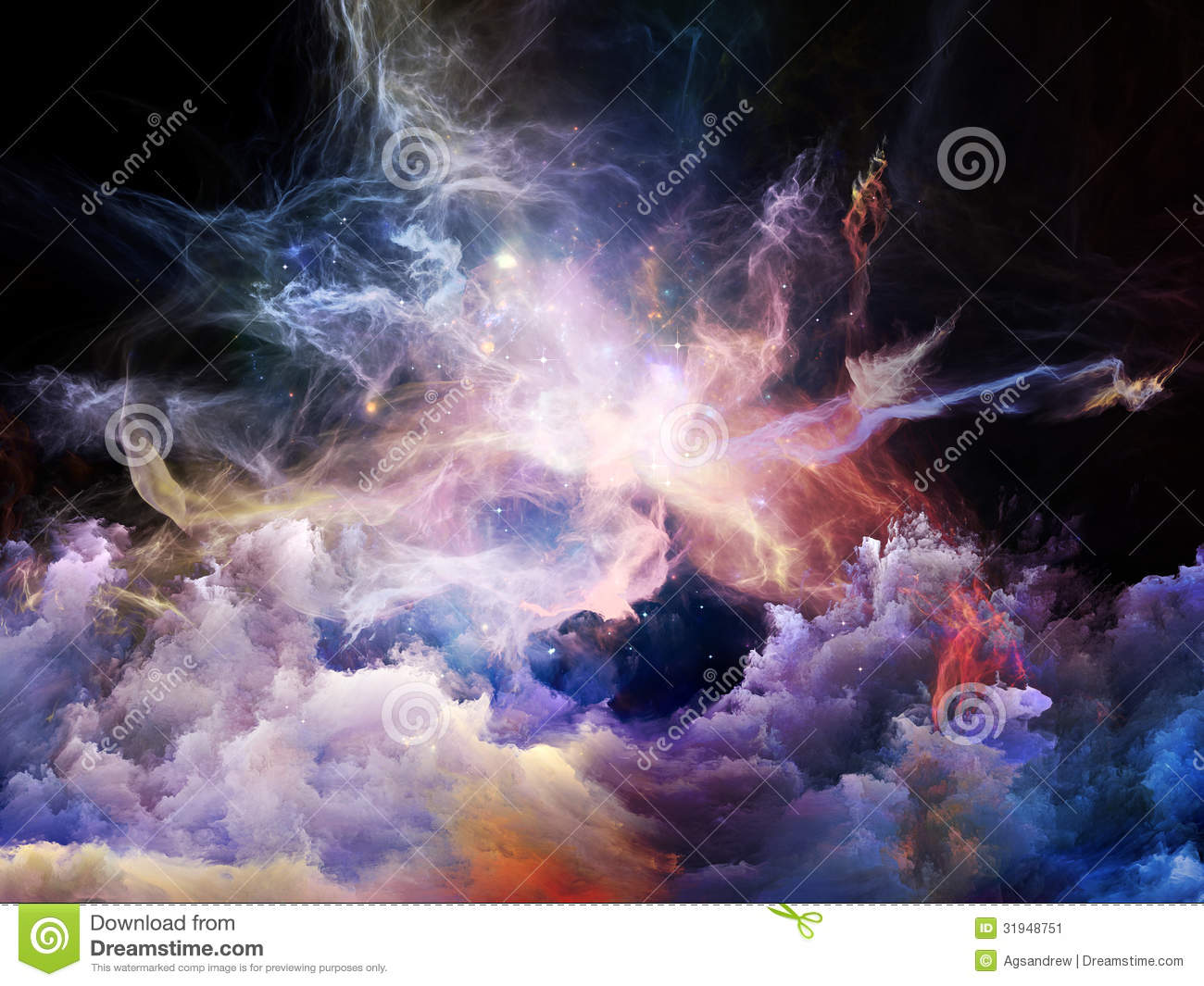 Virtual Nebulae Stock Image.