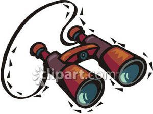 Brown_Binoculars_With_Neck_Strap_Royalty_Free_Clipart_Picture_090327.