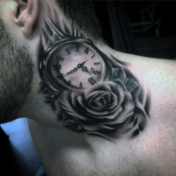 100 Pocket Watch Tattoo Designs For Men.