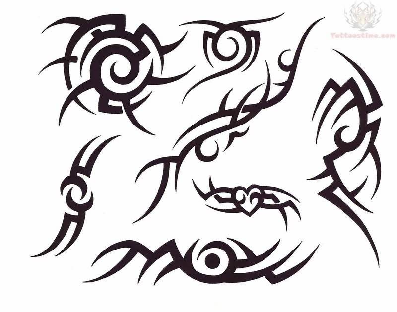 Tribal Neck Tattoos for Men.