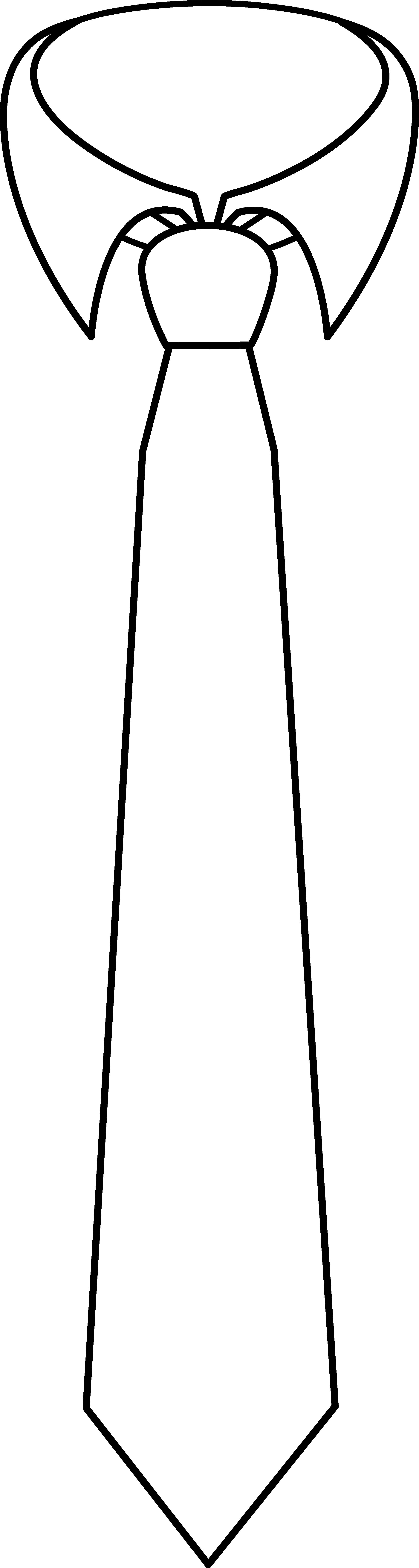Necktie Coloring Page.