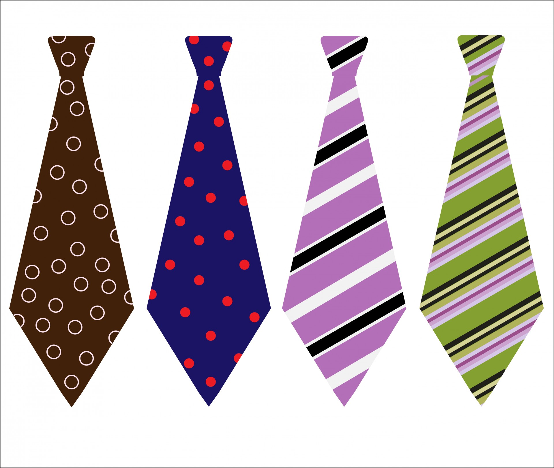 Neck ties clipart #8