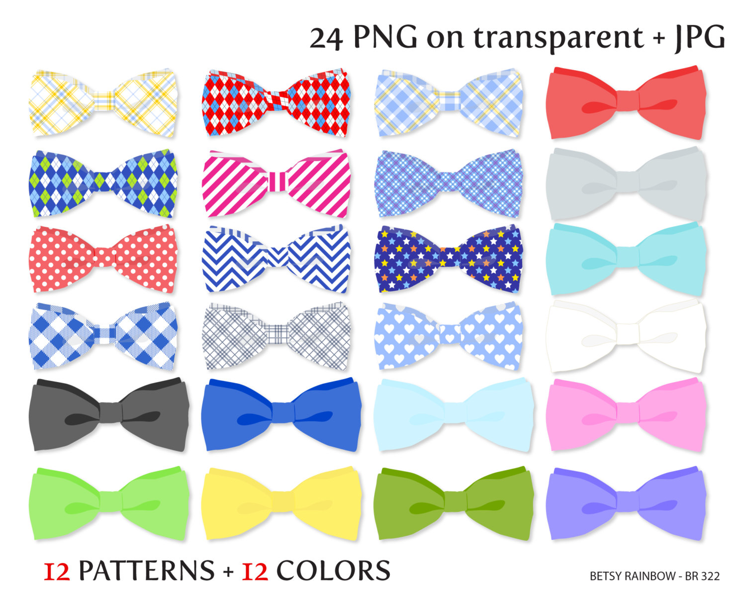 Bow ties clipart.