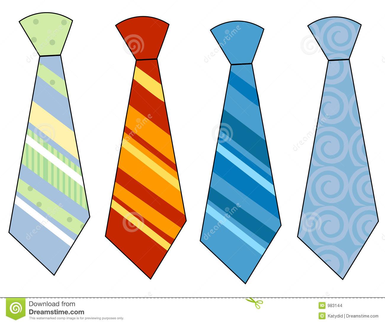 Men's Ties Clipart.