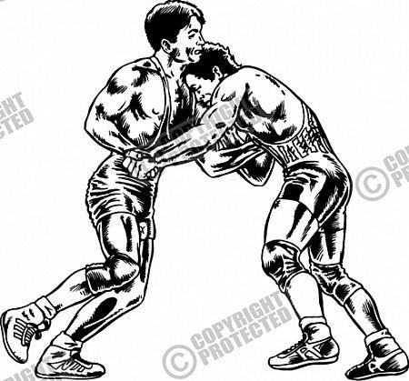 Neck wrestling clipart #17
