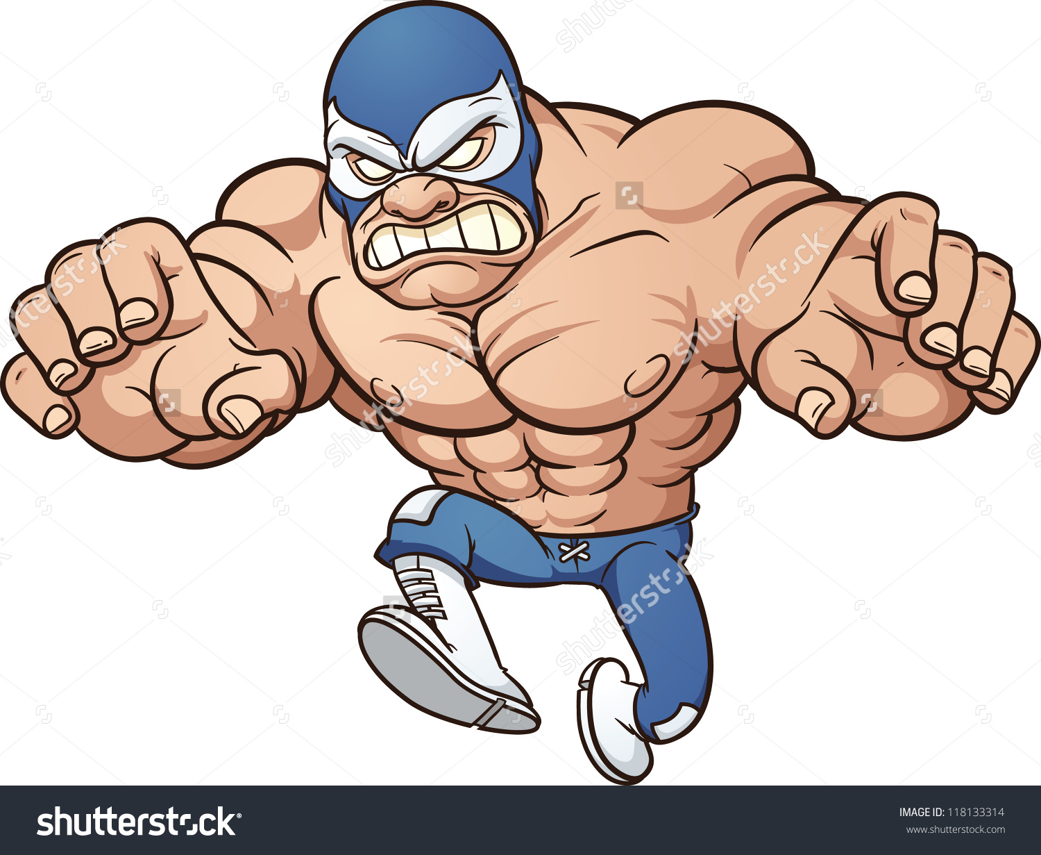 Superhero Wrestling Clipart.