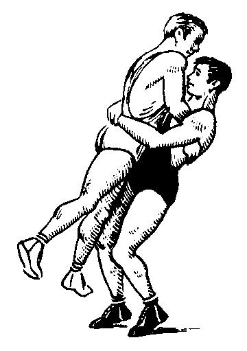 Neck wrestling clipart #16