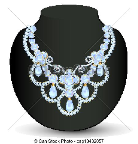 Diamond necklace clipart.