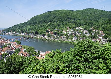 Stock Photo of River Neckar.