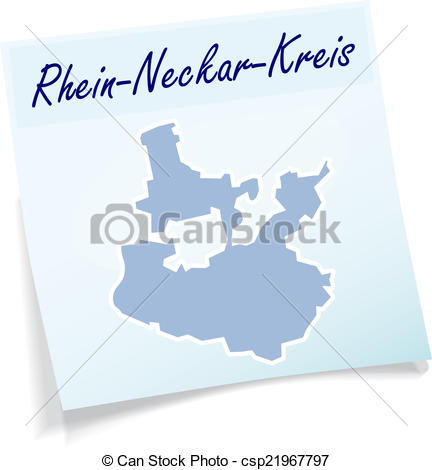 EPS Vectors of Map of Rhein.