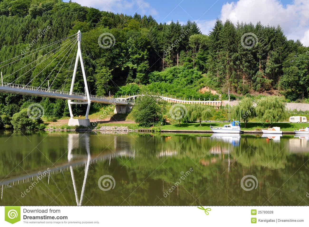 Neckar Valley, Germany Stock Photography.