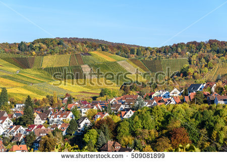 Neckar Valley Stock Photos, Royalty.