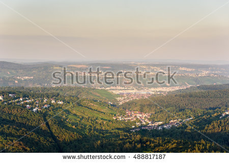 Neckar Valley Stock Photos, Royalty.