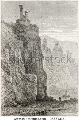 Engravings Of Castles Lizenzfreie Bilder und Vektorgrafiken kaufen.