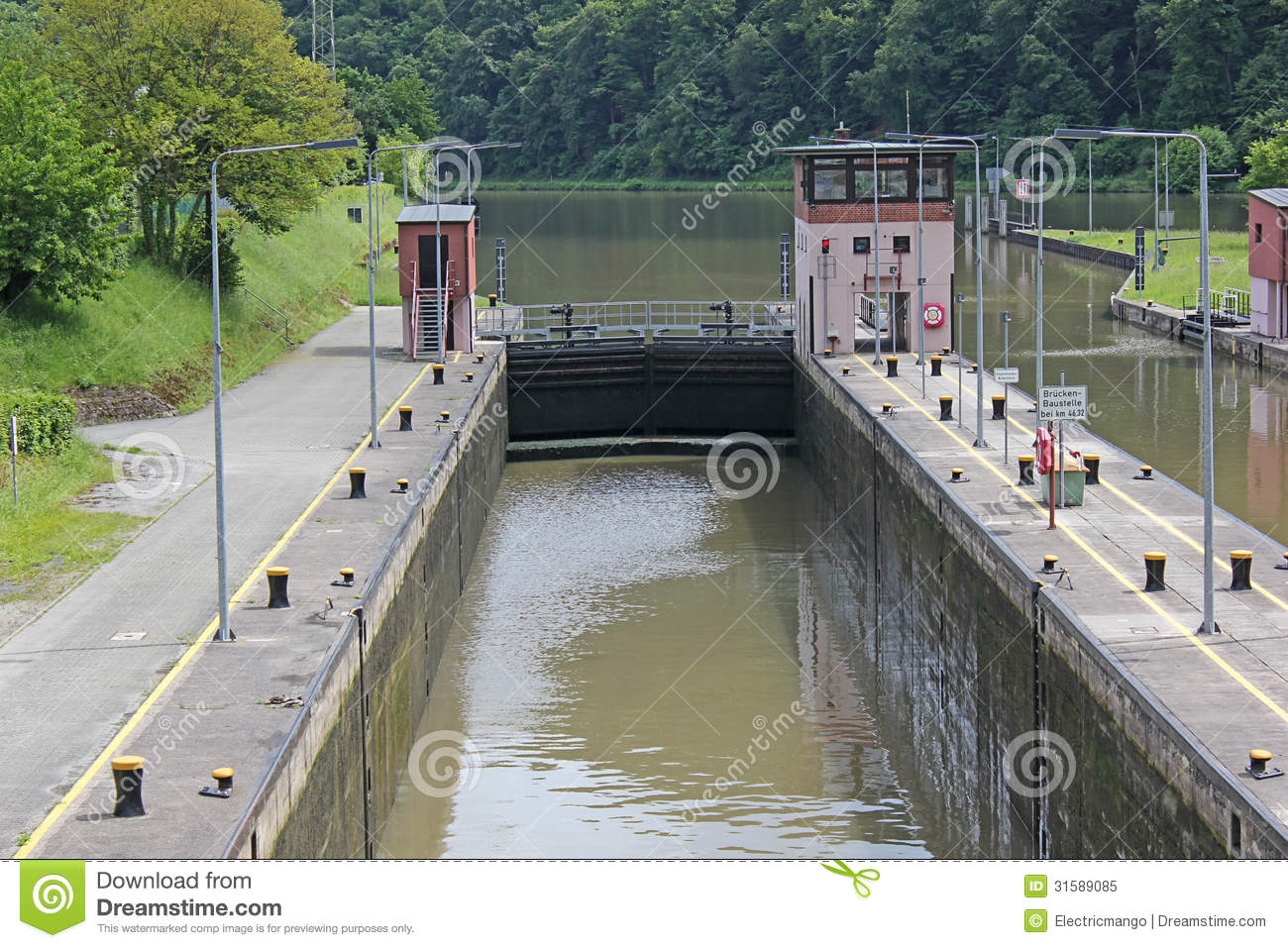 Watergate On The River Neckar Royalty Free Stock Photo.