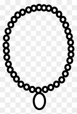 Download Free png 28 Collection Of Necklace Clipart Black.