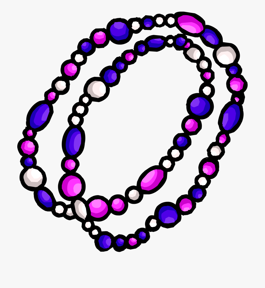 Mardi Gras Beads Clipart Beaded Necklace.