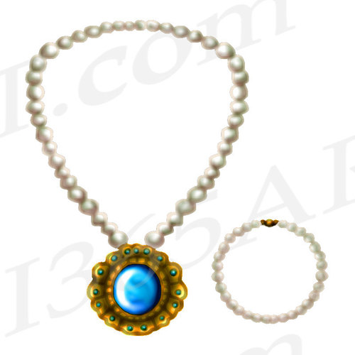 Jewelry Clipart, Jewelry Clip art, Pearl Necklace Clipart.