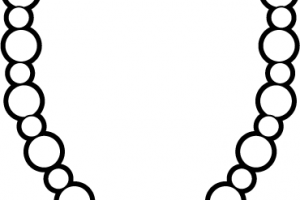 Necklace clipart black and white » Clipart Station.