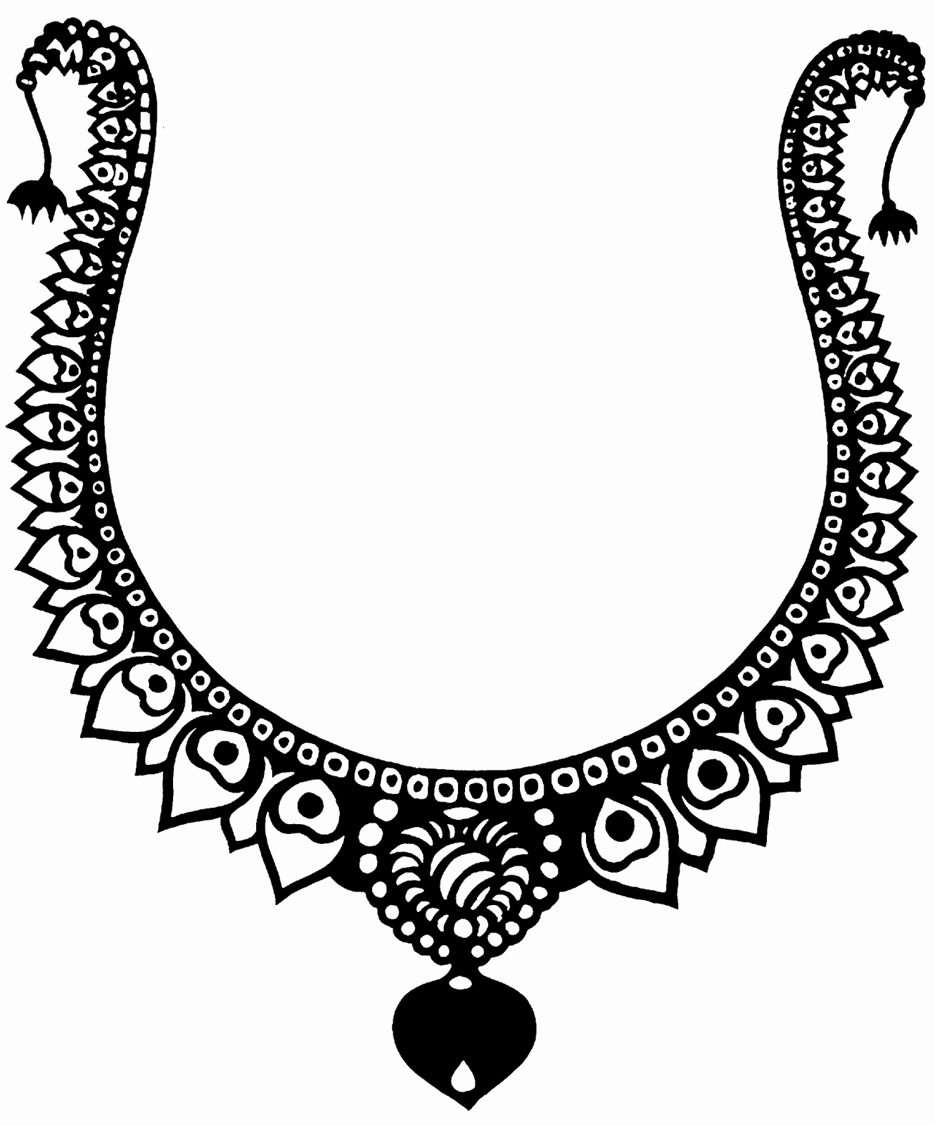 1569 Necklace free clipart.