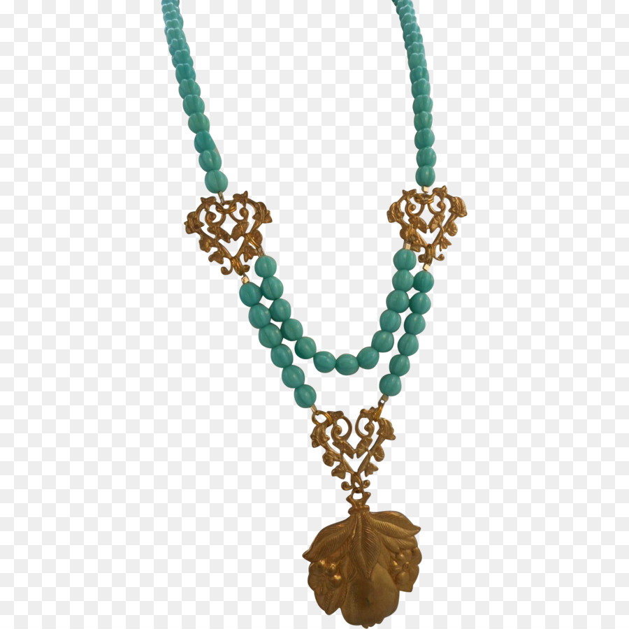 necklace clipart Turquoise Necklace Pendant clipart.