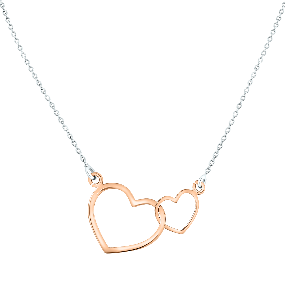 Heart Necklace PNG Transparent Image.